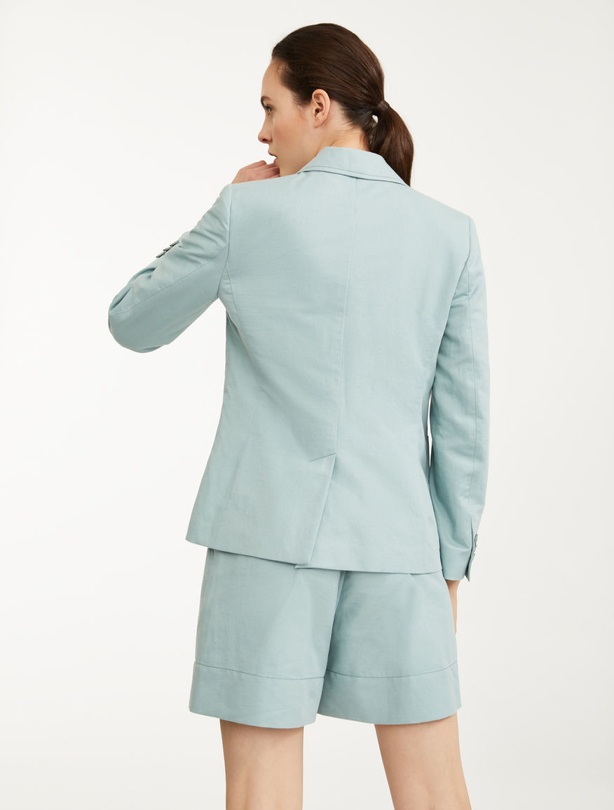 Blazer in cotone e lino Weekend Maxmara