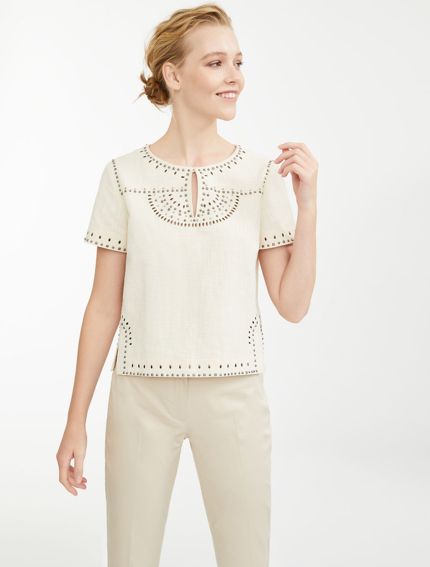 Top in tela di cotone Weekend Maxmara
