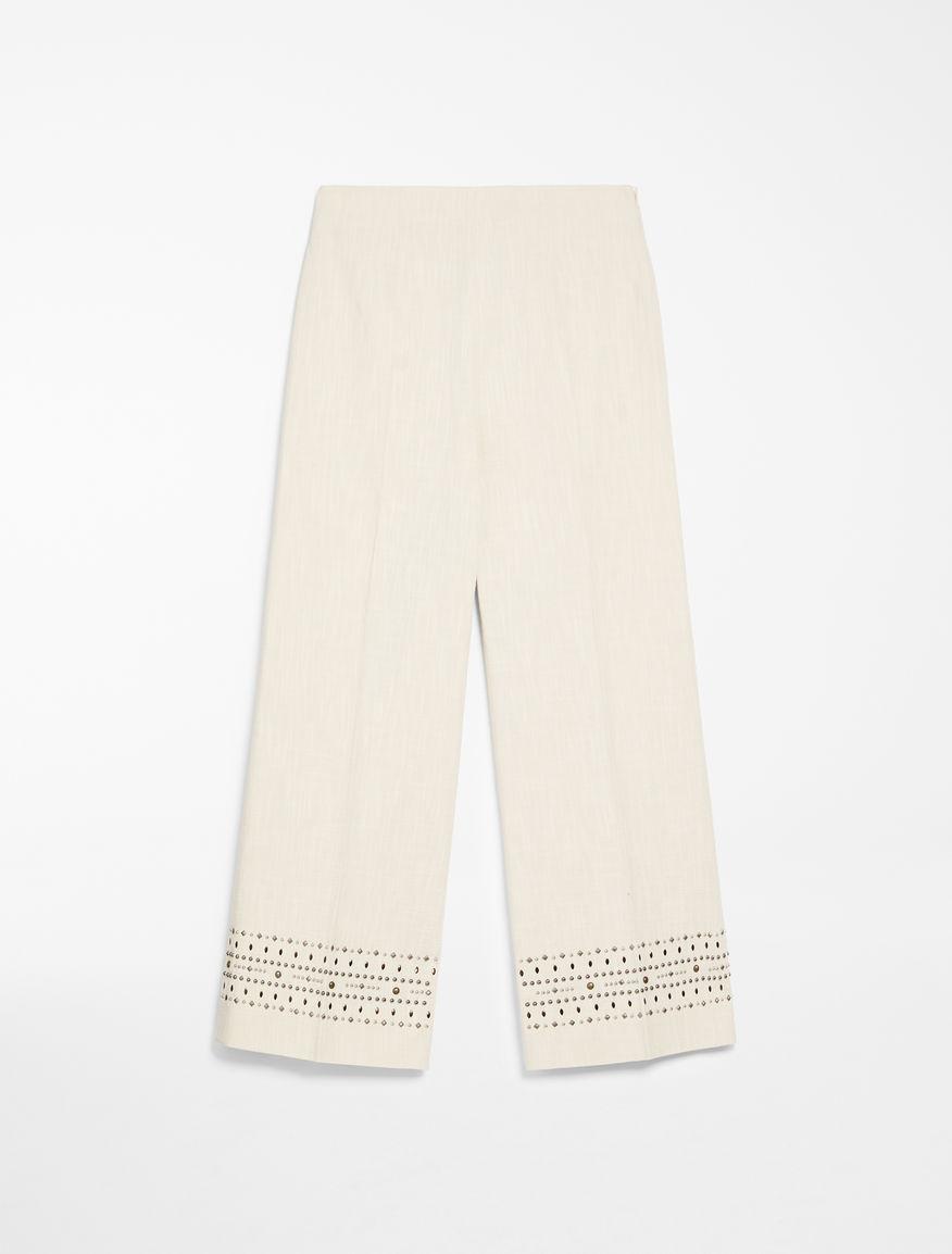 Pantaloni di tela di cotone Weekend Maxmara