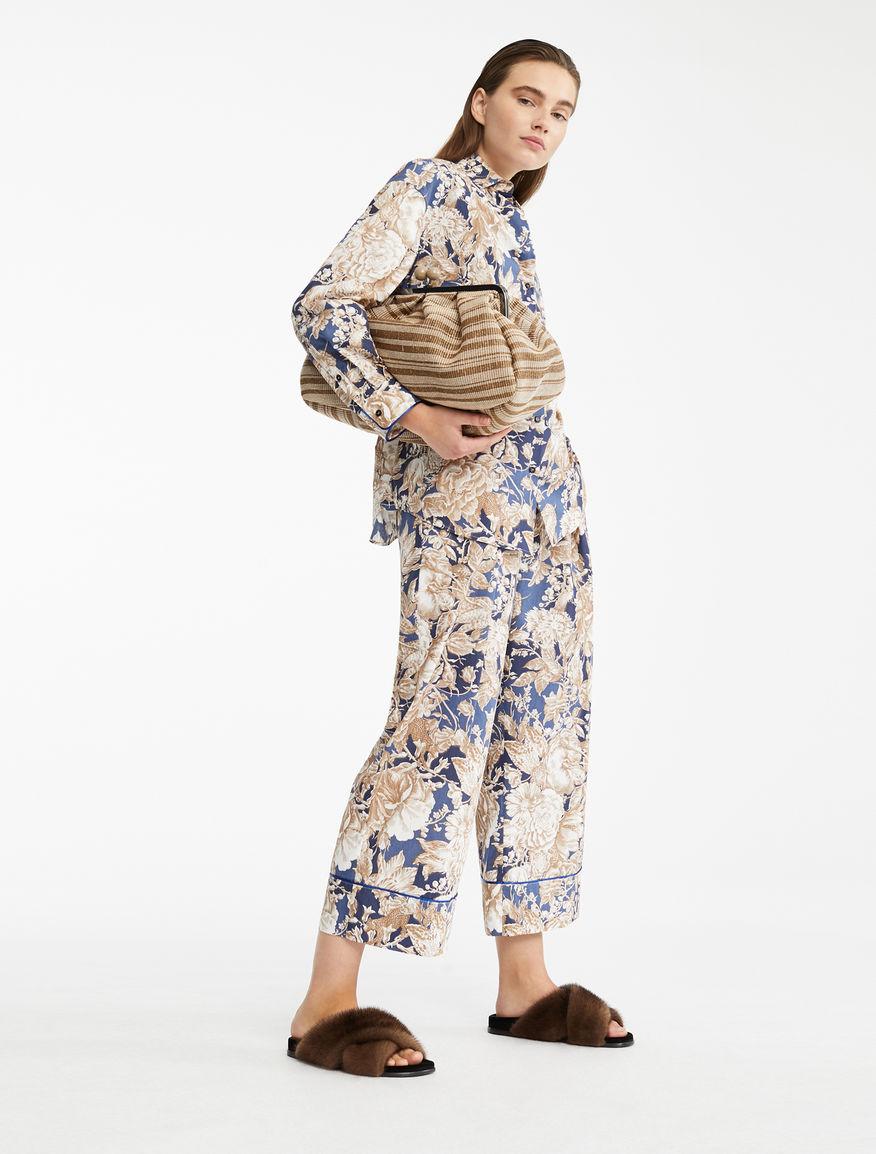 Pantaloni in popeline di cotone Weekend Maxmara