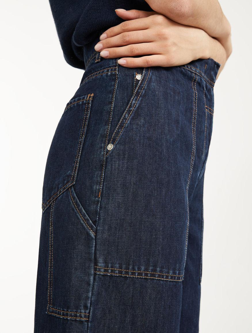 Linen and cotton denim trousers Weekend Maxmara