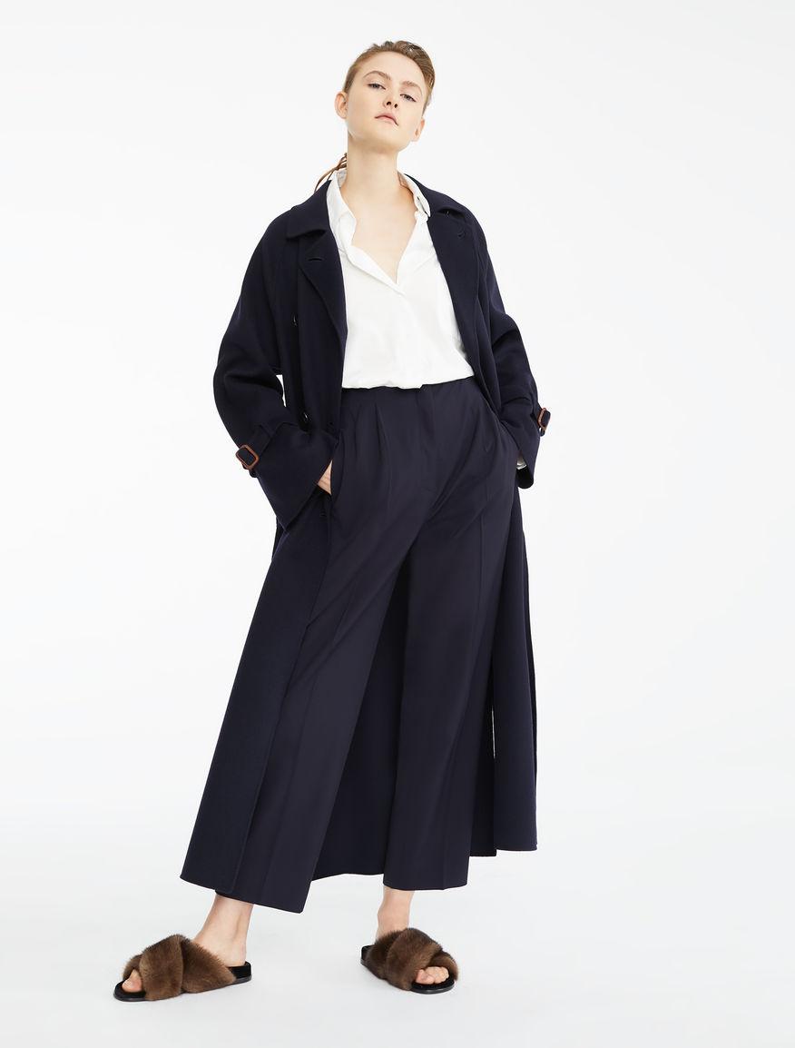 Pantaloni in twill di lana e viscosa Weekend Maxmara
