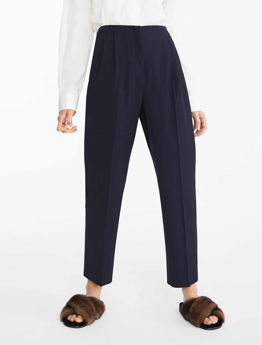 Wool and viscose twill trousers Weekend Maxmara