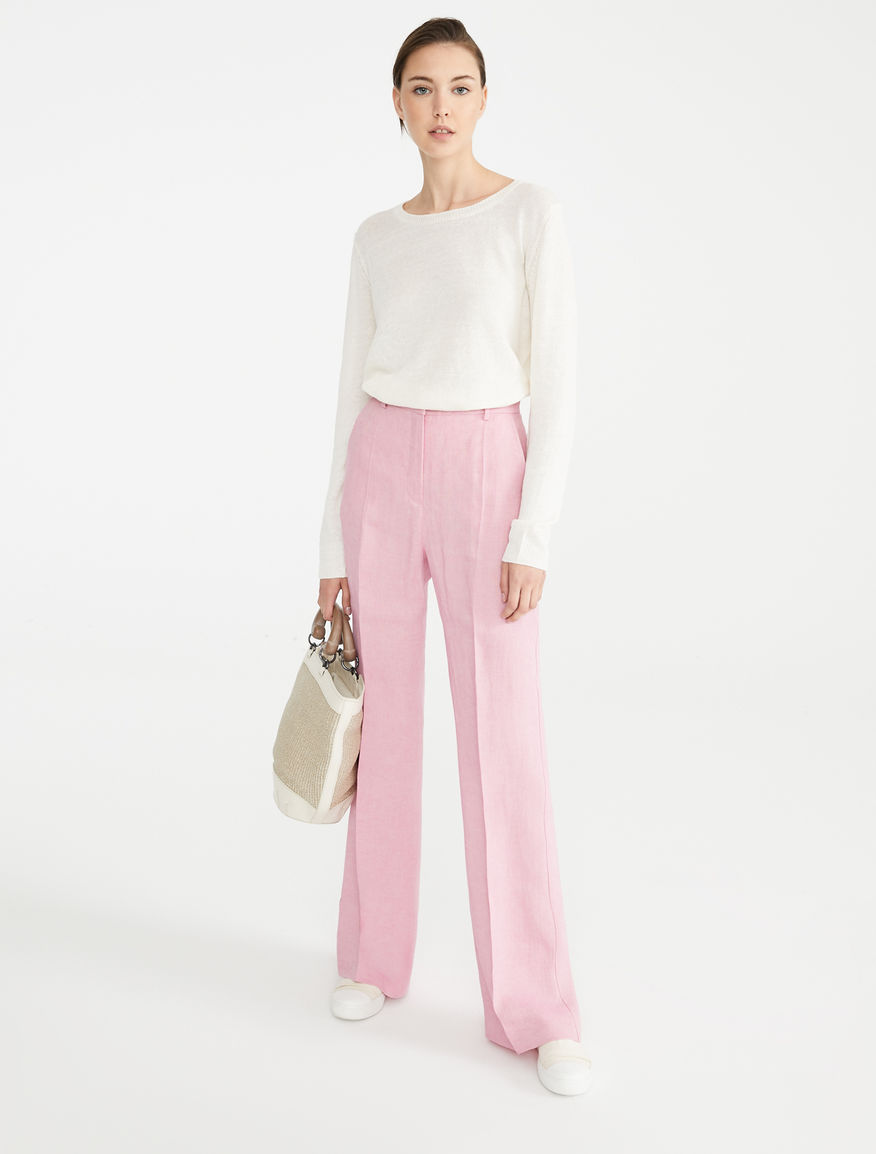 Pantaloni in canvas di lino Weekend Maxmara