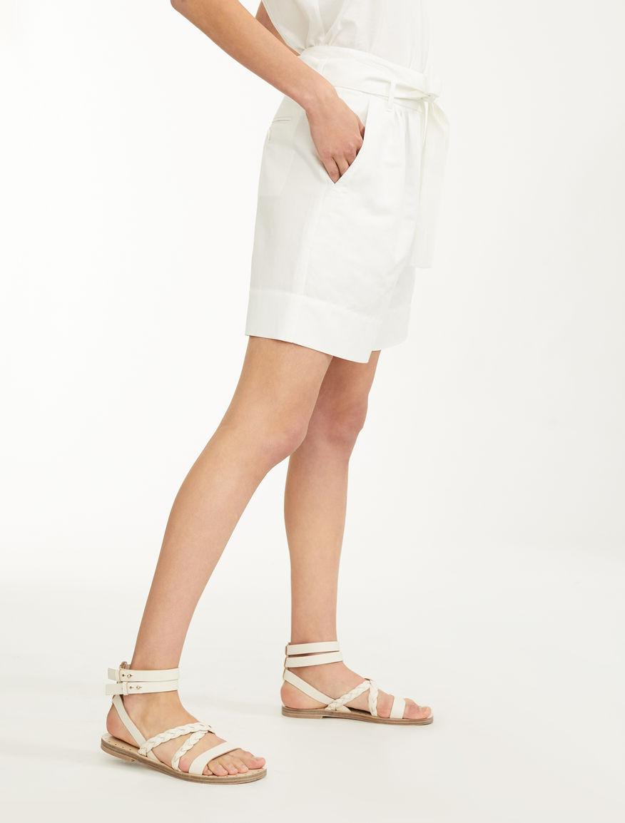 Cotton and linen shorts Weekend Maxmara
