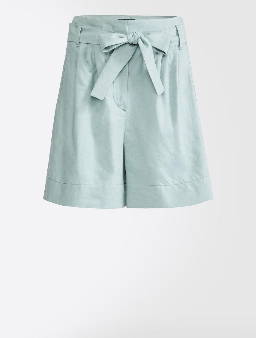 Pantaloni corti in cotone e lino Weekend Maxmara