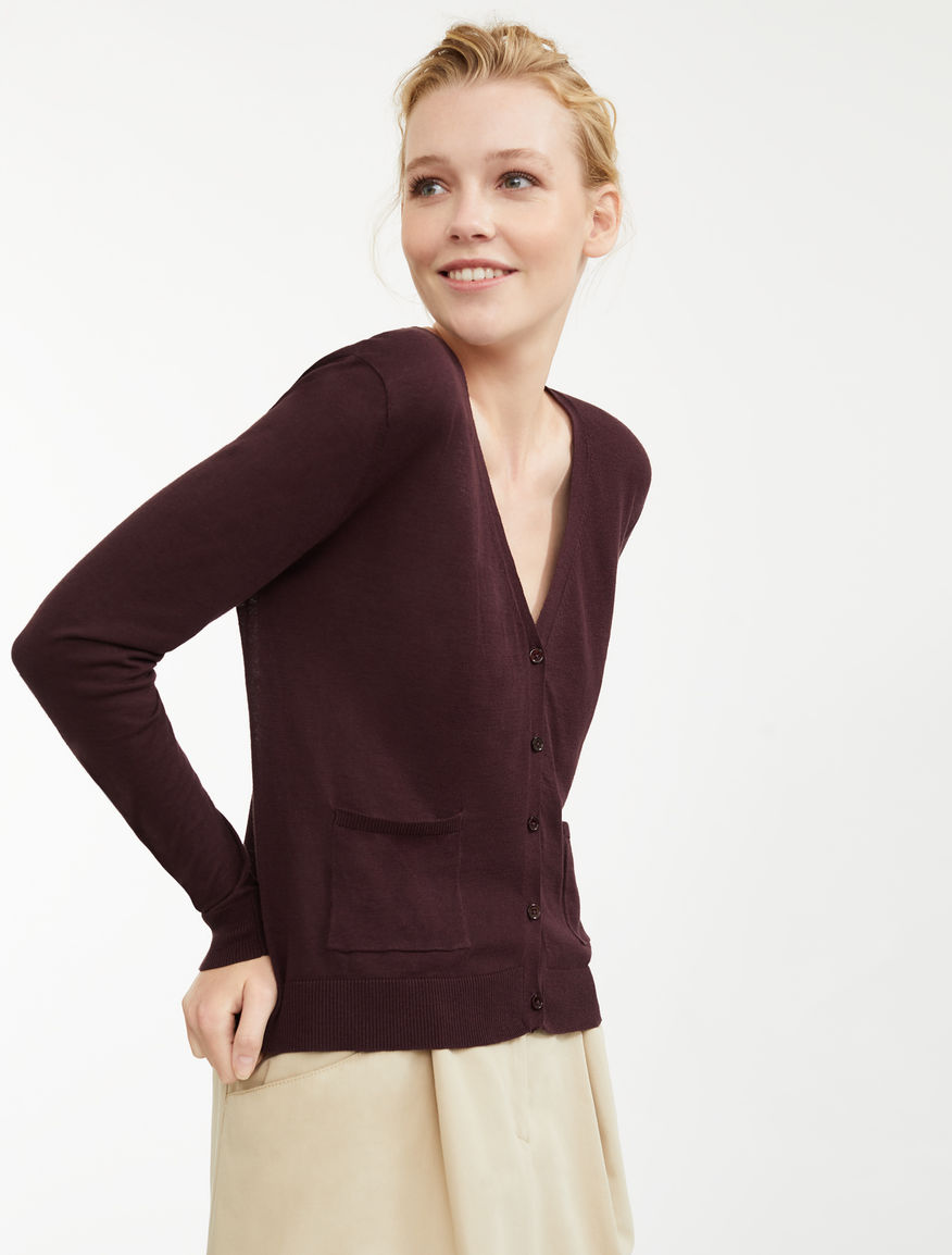 Cardigan in filato di seta e lino Weekend Maxmara