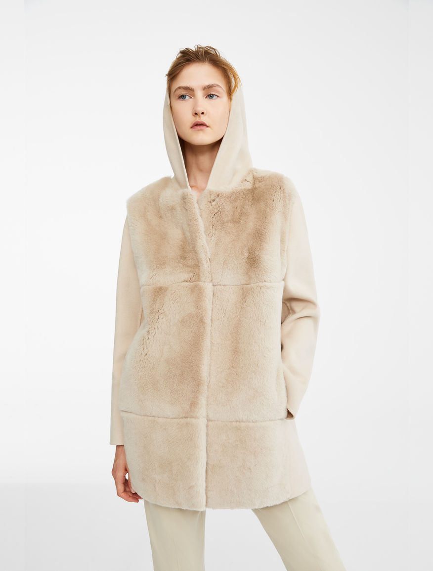 Rabbit fur and wool coat Weekend Maxmara