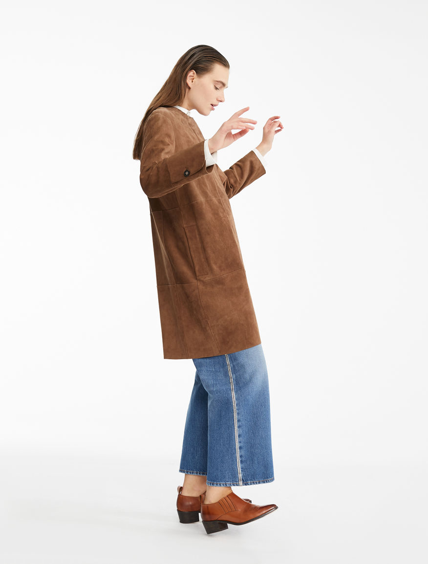 Suede overcoat Weekend Maxmara