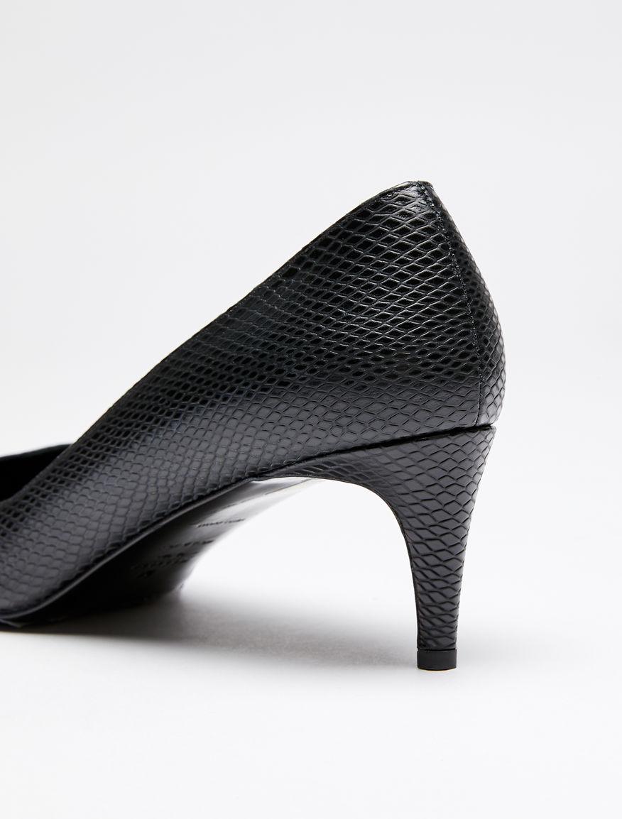 Python-print leather heels Weekend Maxmara