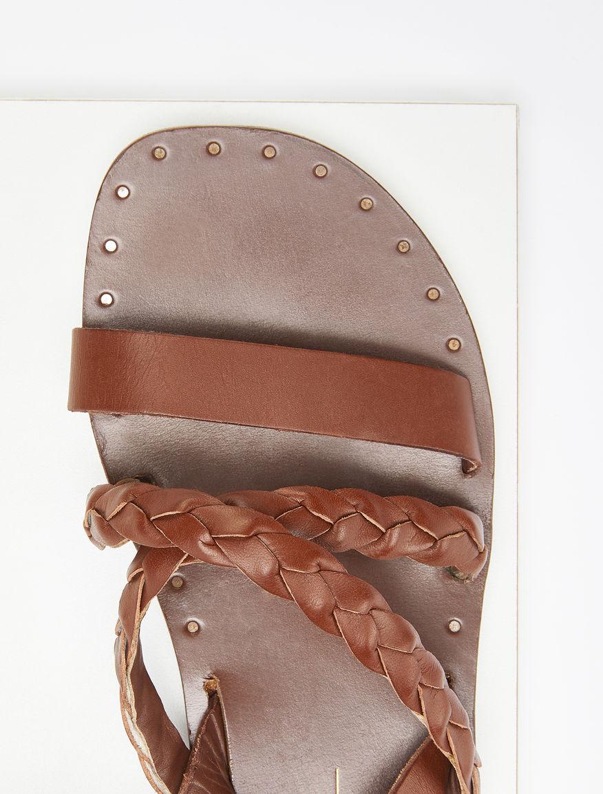 Flat leather sandals Weekend Maxmara