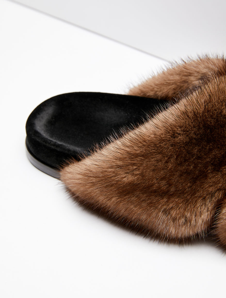 Mink and velvet sandals Weekend Maxmara
