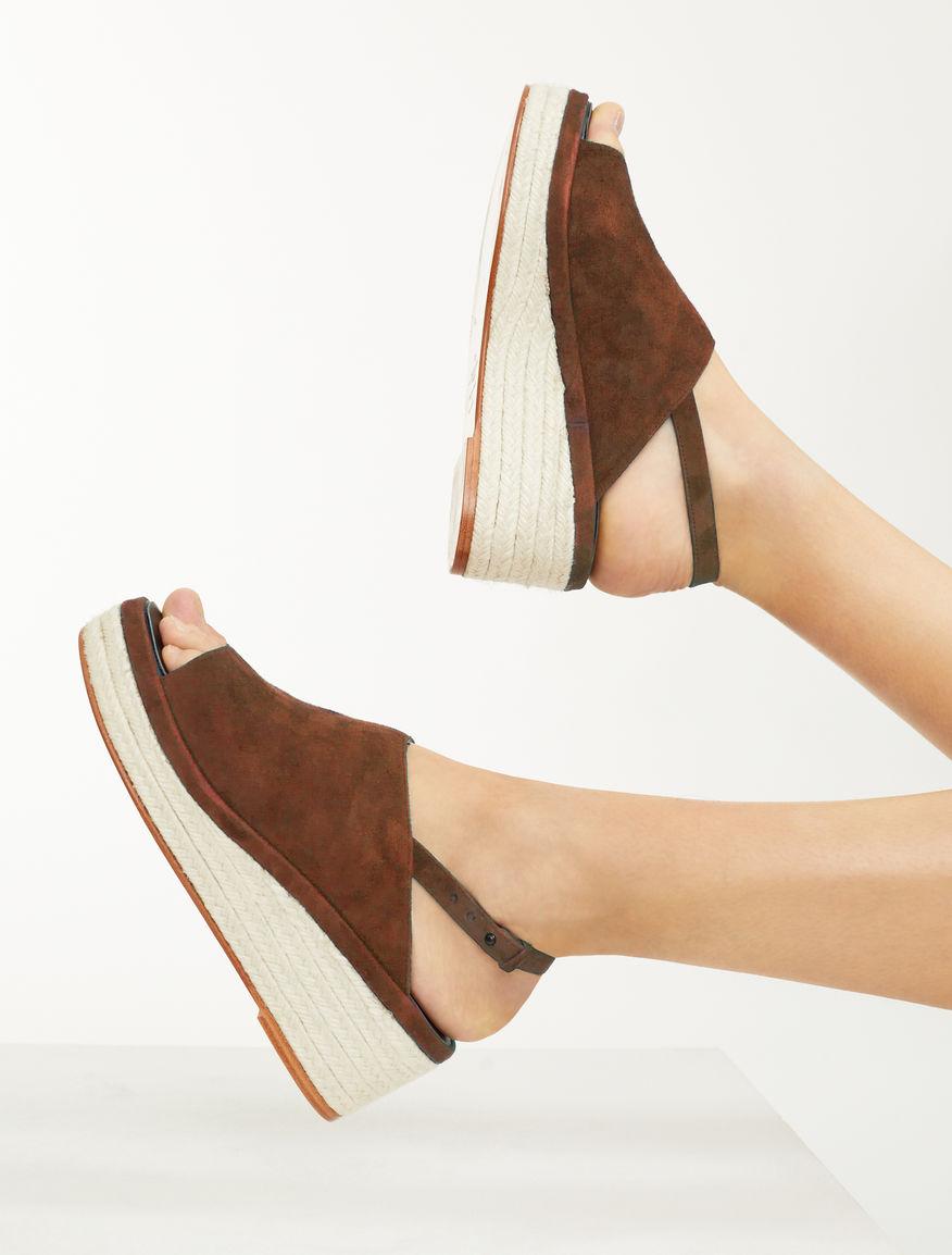 Suede wedge sandal Weekend Maxmara