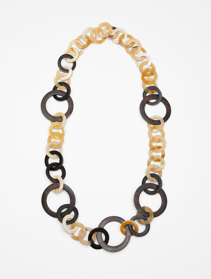 Ebony and horn chain necklace Weekend Maxmara
