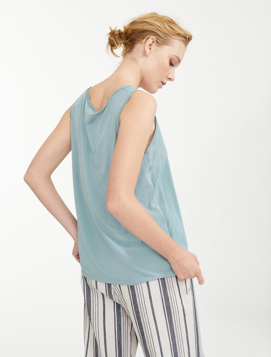 Silk and cotton jersey top Weekend Maxmara