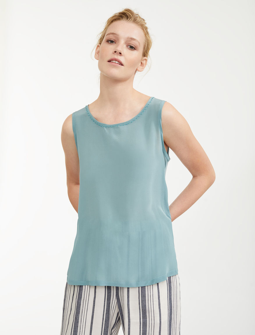 Silk and cotton jersey top Weekend Maxmara