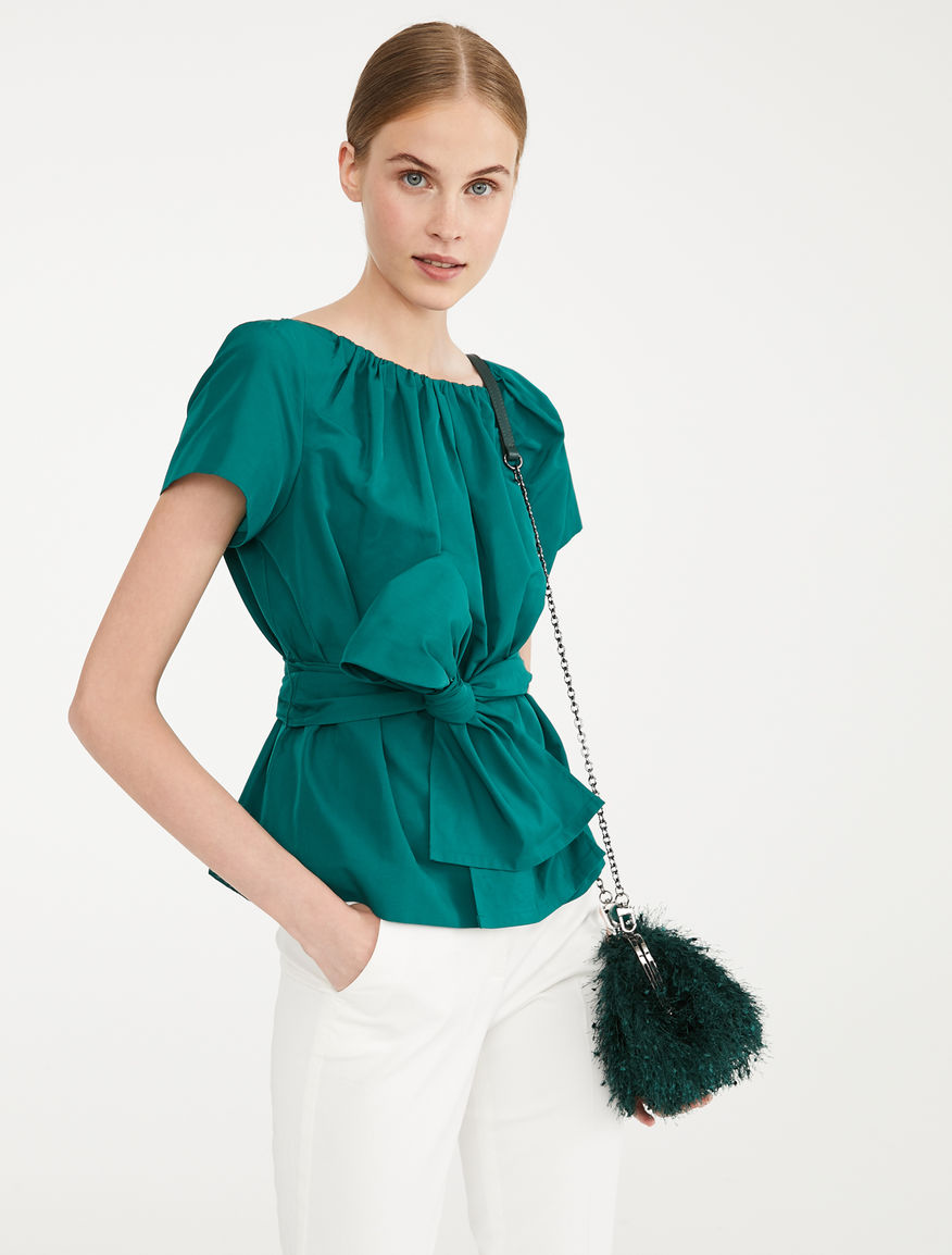 Top in twill di cotone Weekend Maxmara
