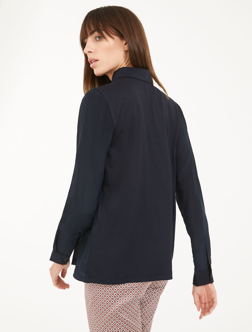 Jersey and silk crêpe shirt Weekend Maxmara