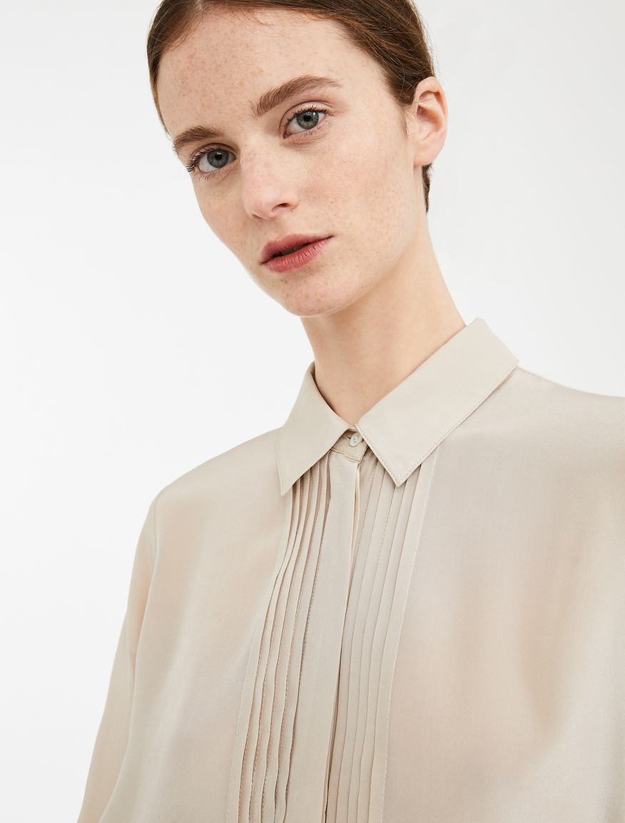 Jersey and silk crêpe shirt Weekend Maxmara