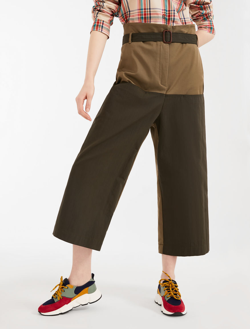 Pantaloni in canvas di cotone Weekend Maxmara