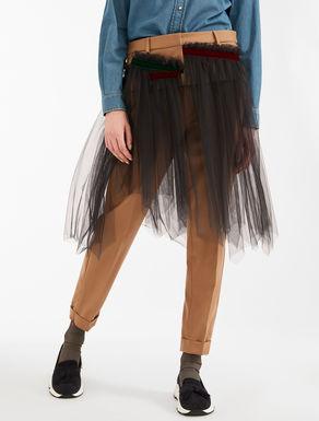 Pantaloni in flanella di lana e tulle Weekend Maxmara