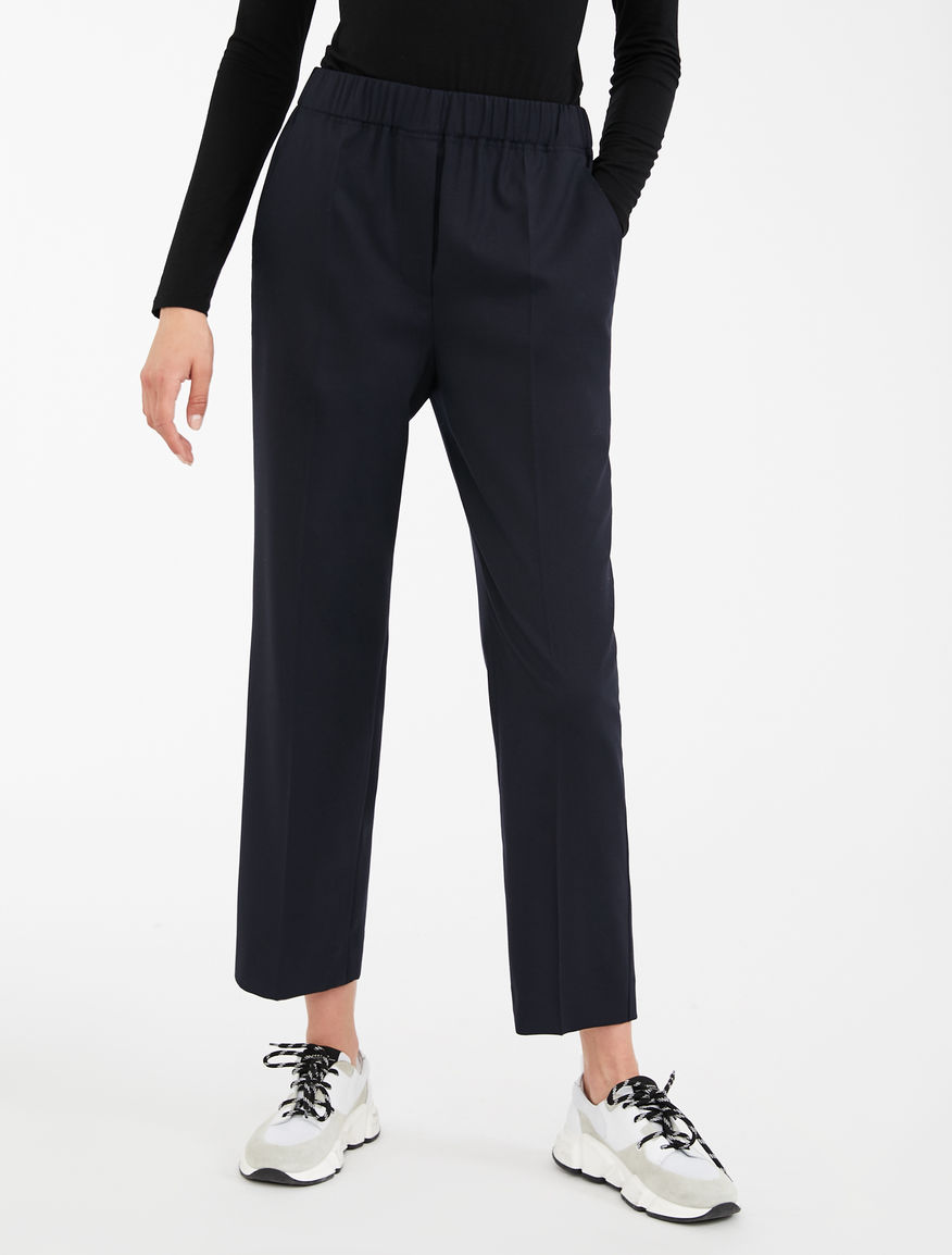 Pantalon in twill di lana Weekend Maxmara