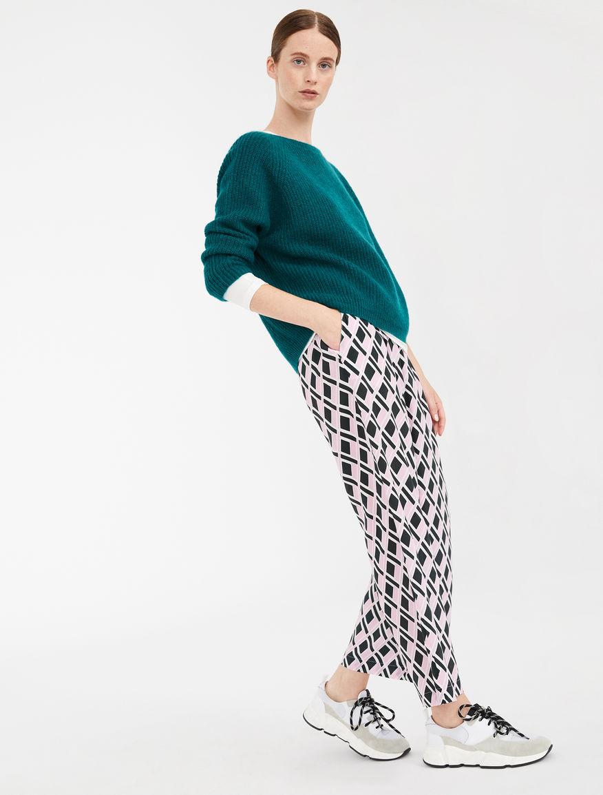 Pantaloni in crêpe de Chine di seta Weekend Maxmara