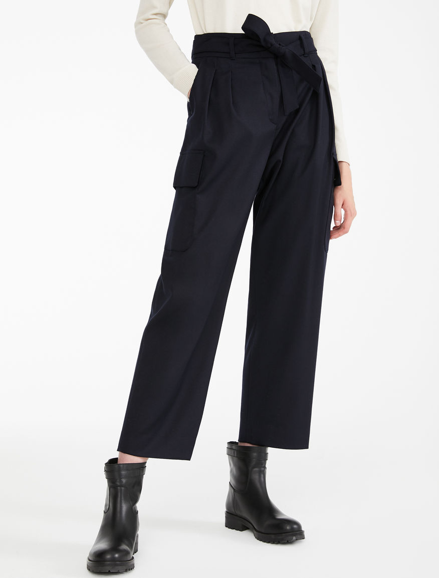 Pantaloni in flanella di lana Weekend Maxmara