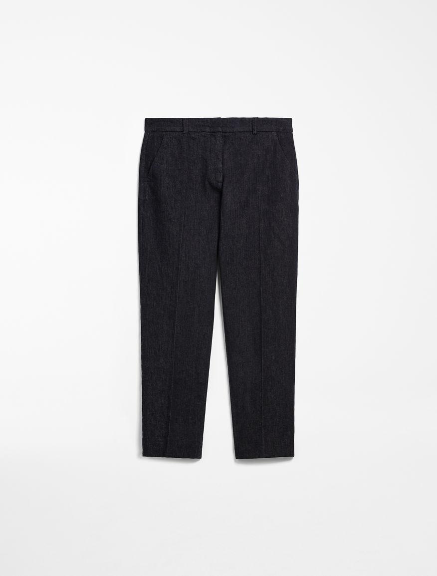 Cotton denim trousers Weekend Maxmara
