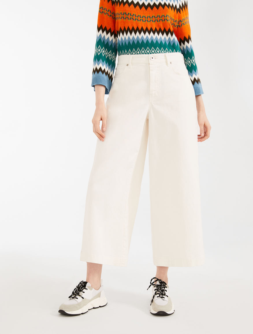 Pantaloni in bull di cotone Weekend Maxmara