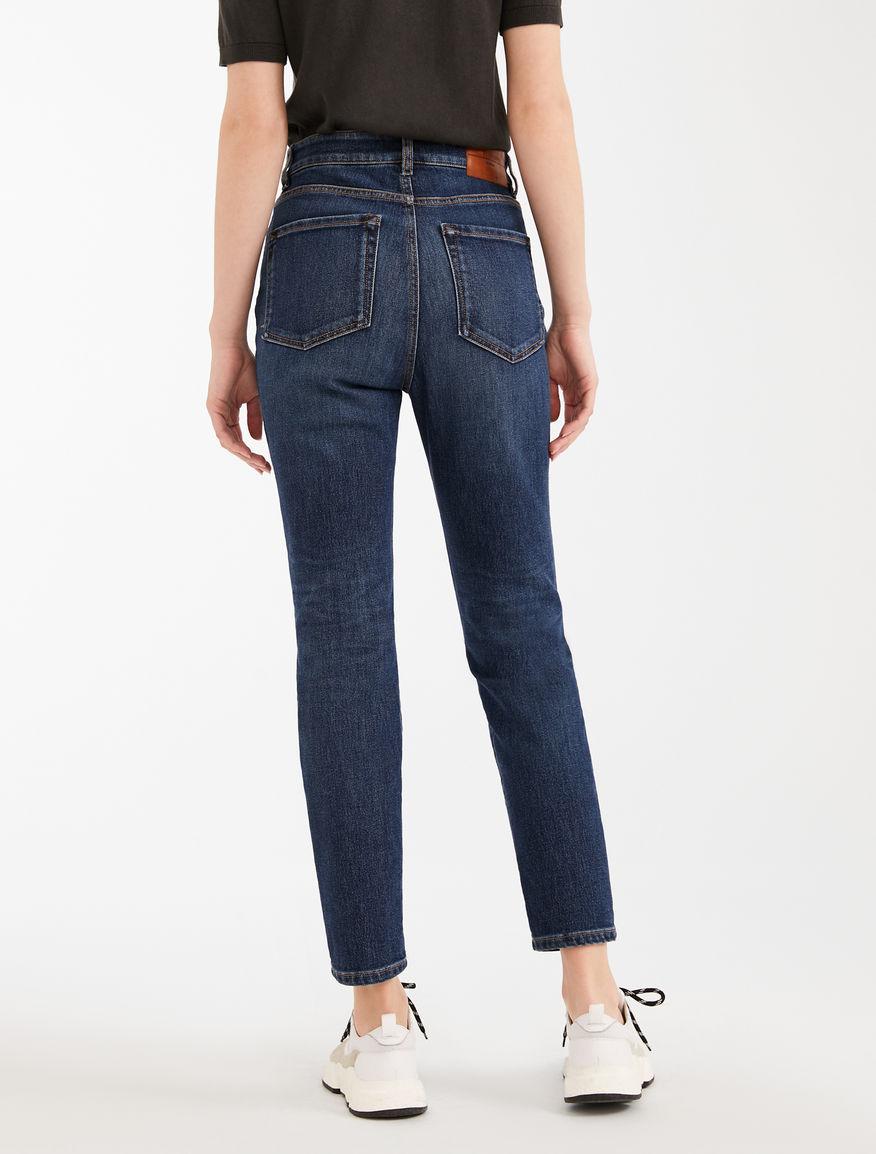 Cotton denim cropped jeans Weekend Maxmara