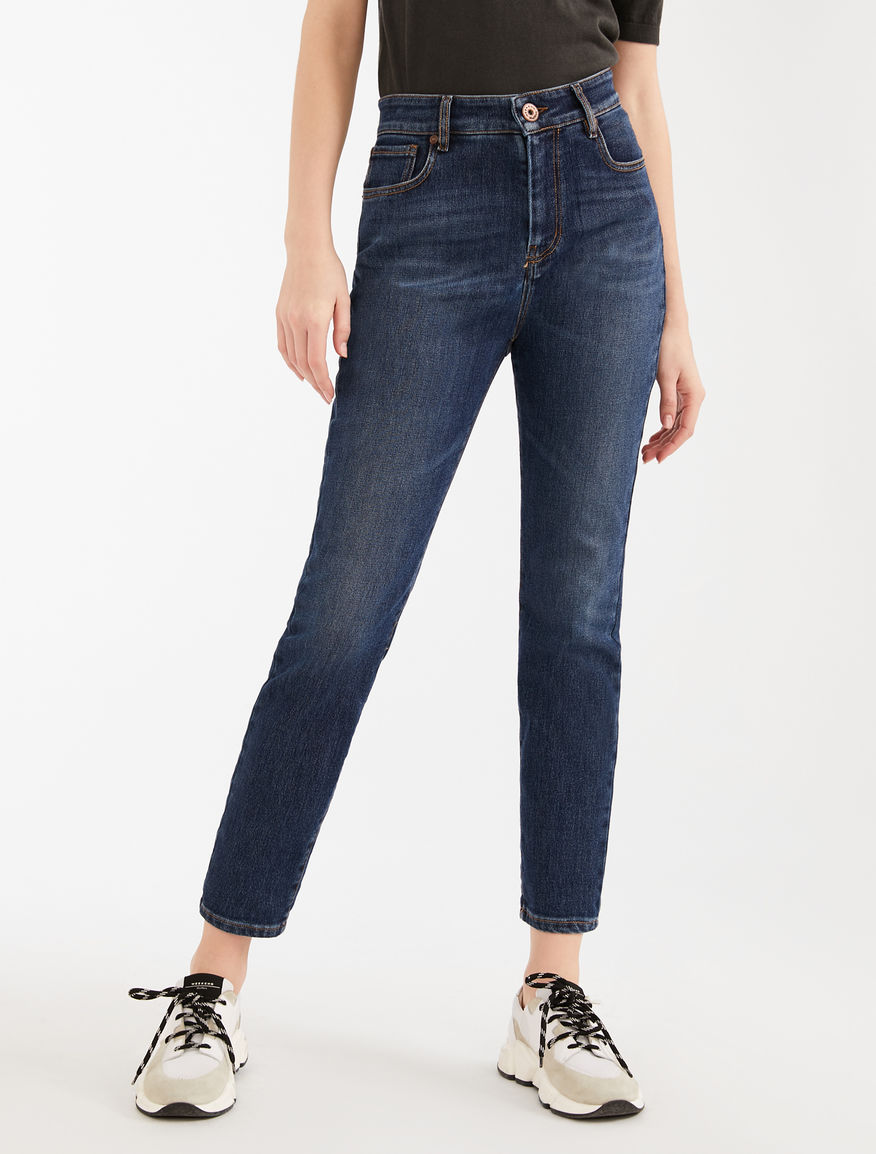 Cotton denim cropped jeans Weekend Maxmara