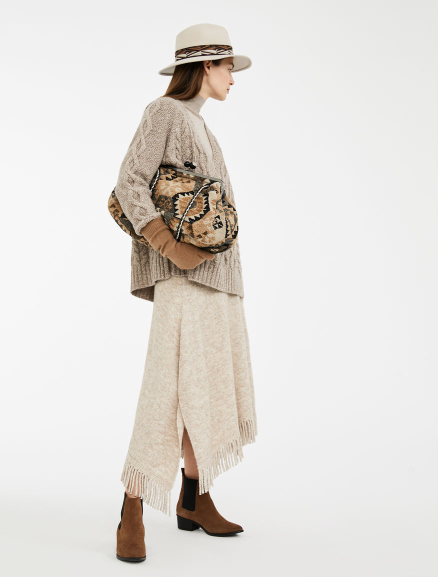 Alpaca, wool and cotton skirt Weekend Maxmara