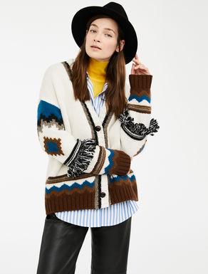 Cardigan in filato di lana, alpaca e moahir Weekend Maxmara