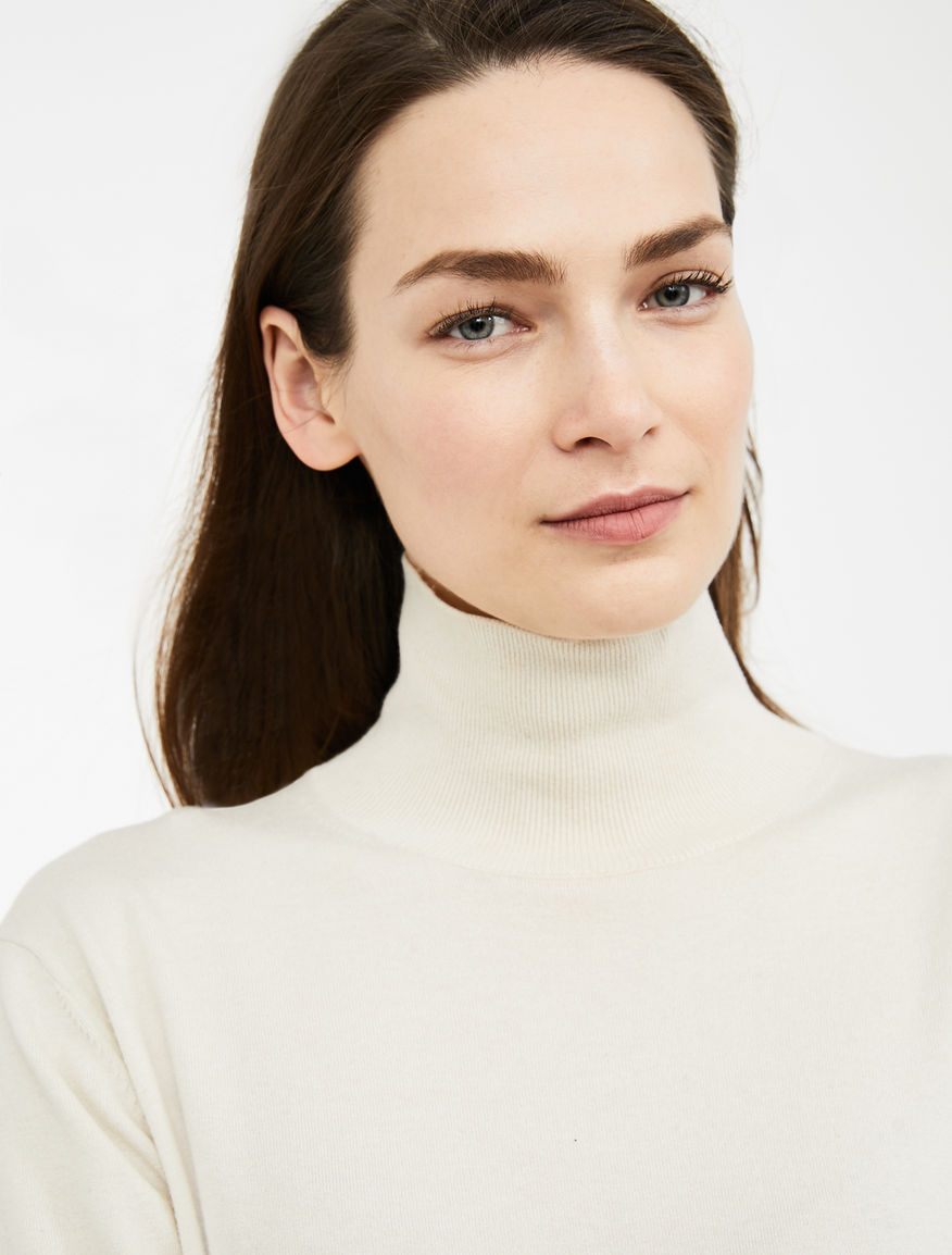 Silk and wool yarn polo neck jumper Weekend Maxmara