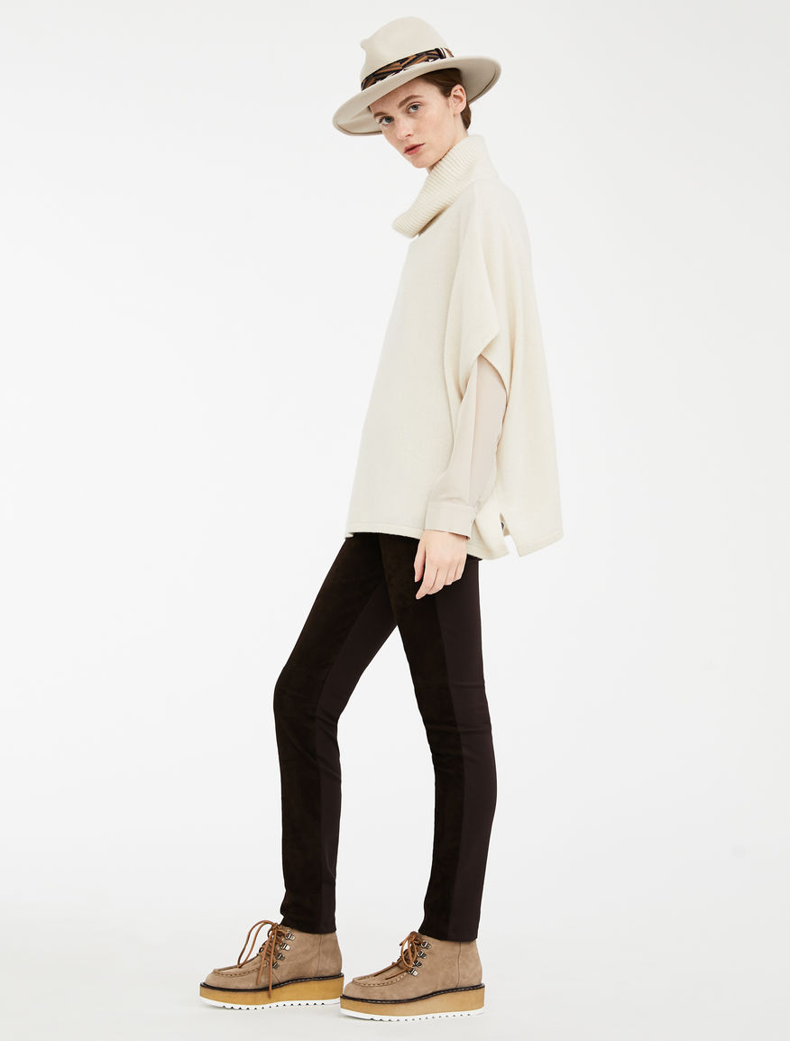 Leggings in suede leather and jersey Weekend Maxmara