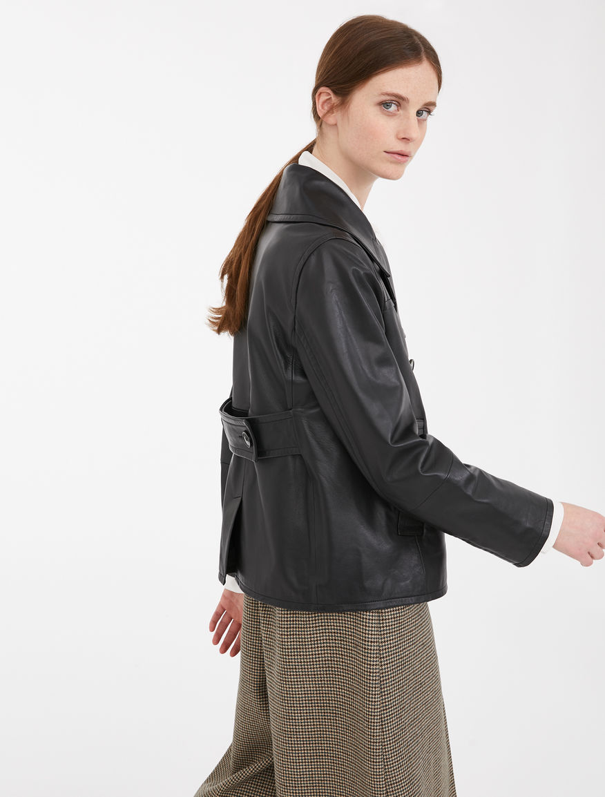 Nappa leather pea coat Weekend Maxmara