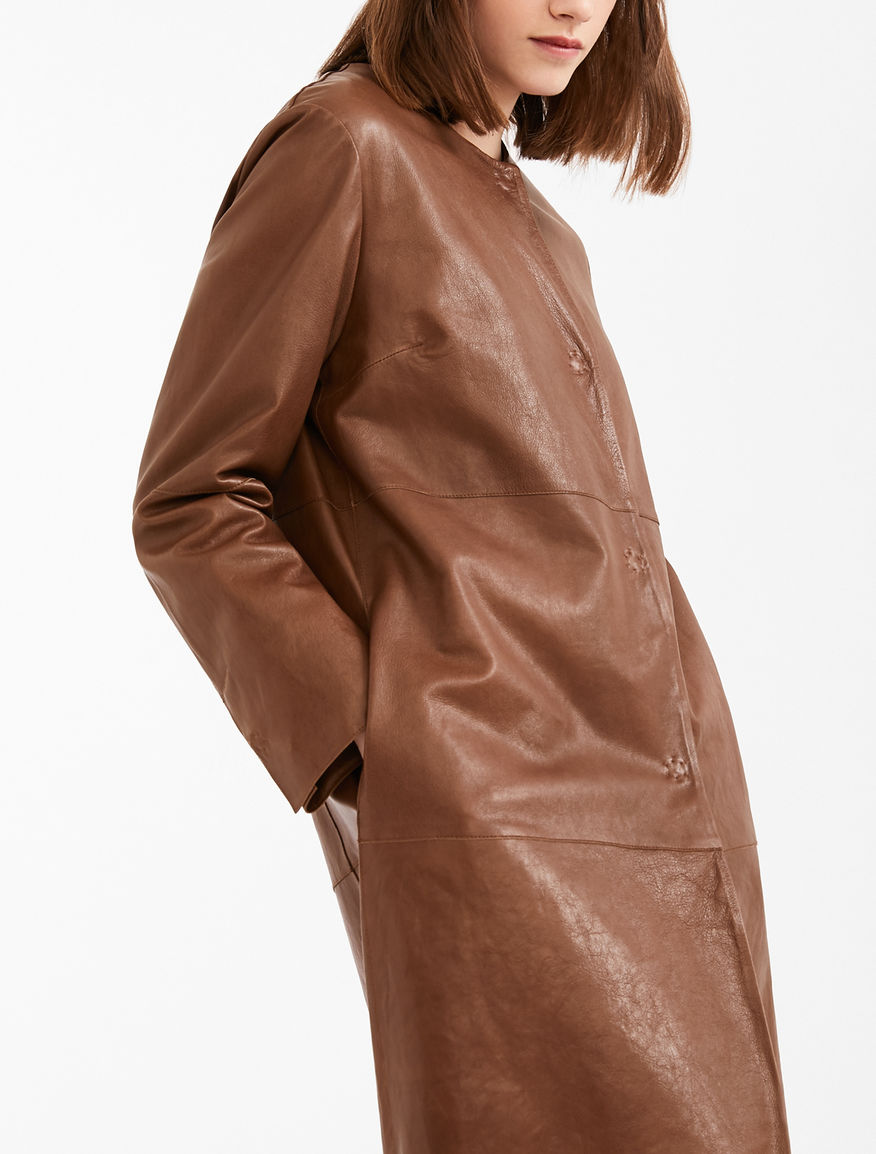 Nappa leather duster coat Weekend Maxmara