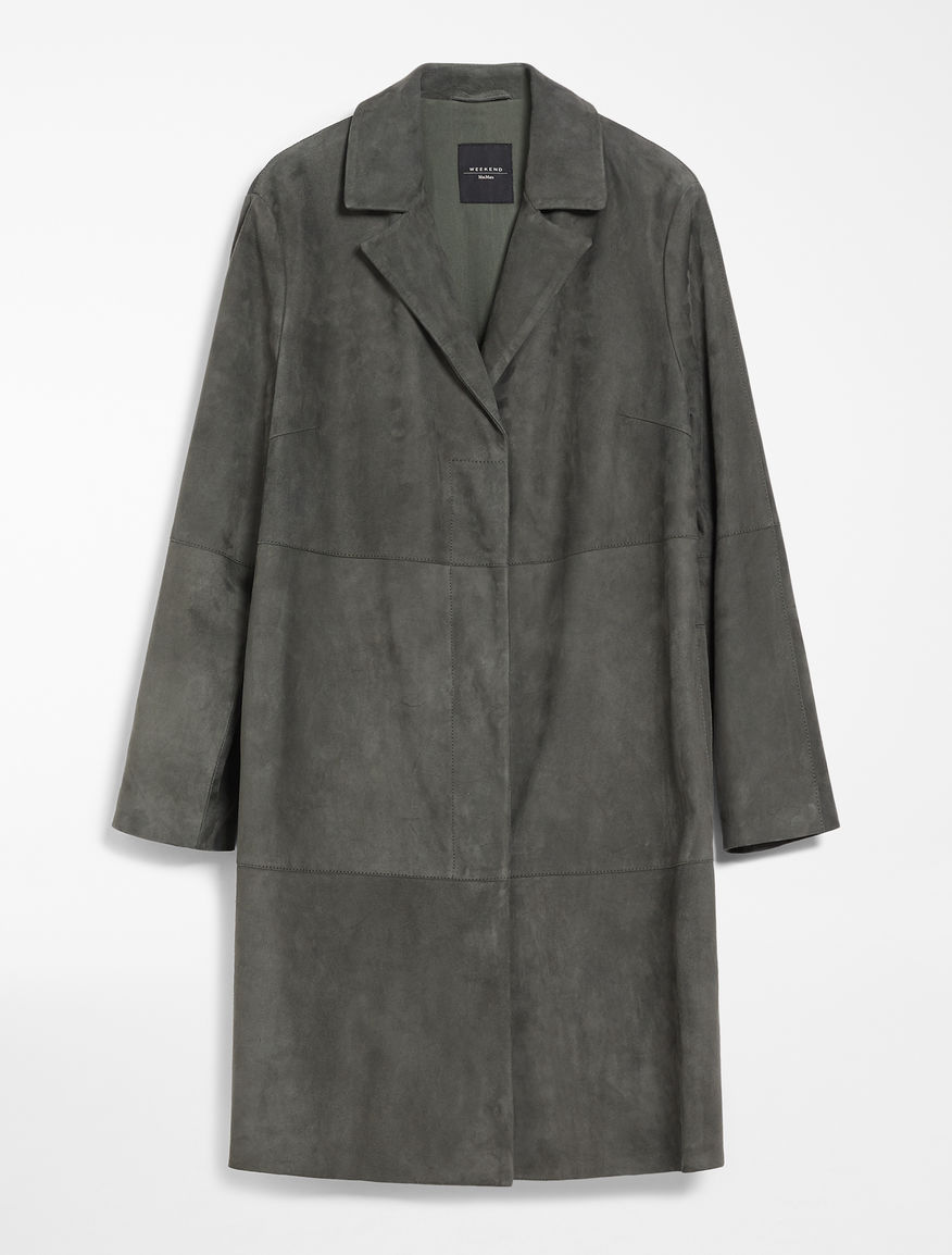 Suede leather duster coat Weekend Maxmara