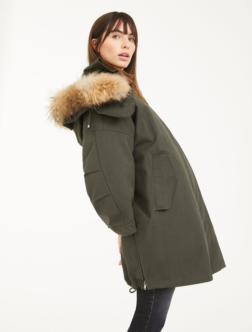 Jacket made from showerproof cotton canvas Weekend Maxmara