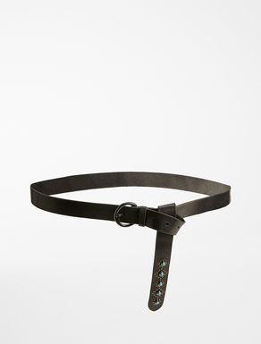 Cintura in pelle con borchie Weekend Maxmara