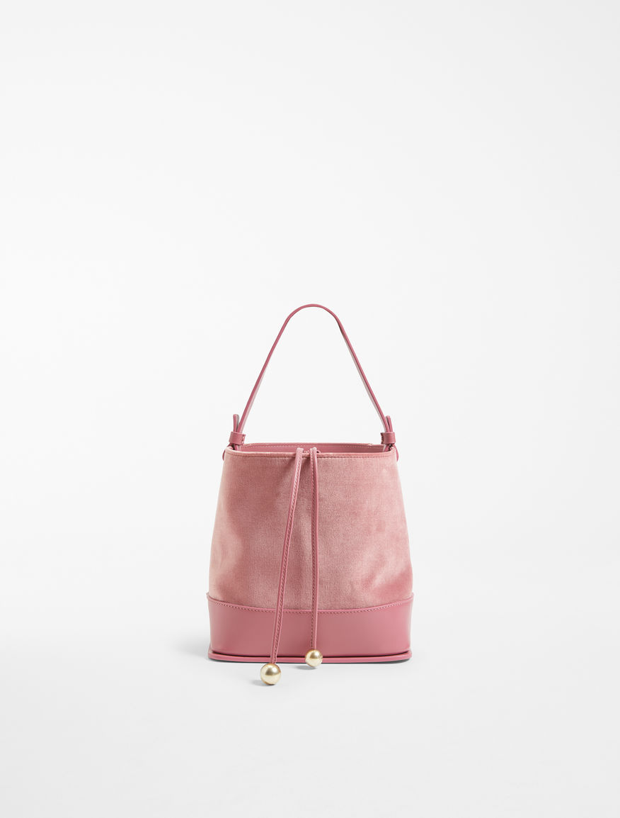 Bucket bag in velvet and leather Weekend Maxmara