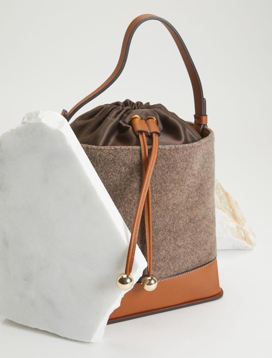 Bucket bag in felt and leather Weekend Maxmara