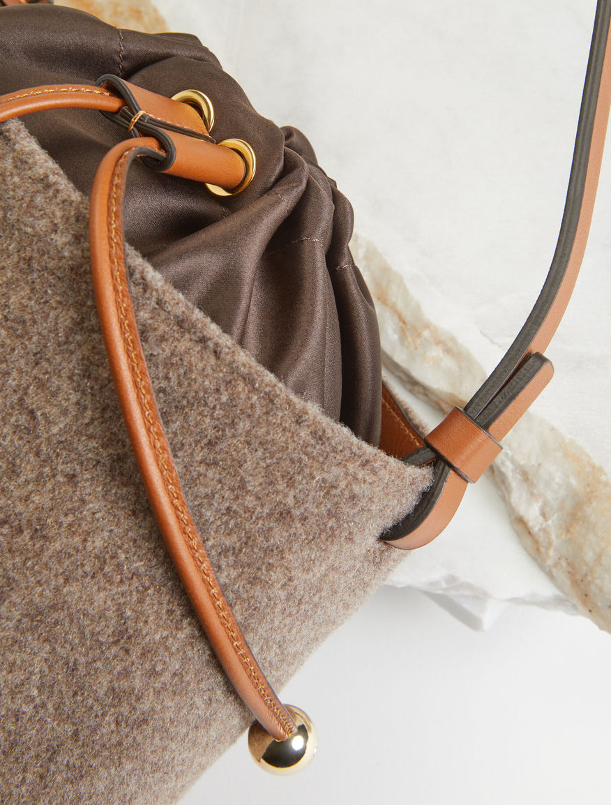 Bucket bag in felt and leather Weekend Maxmara