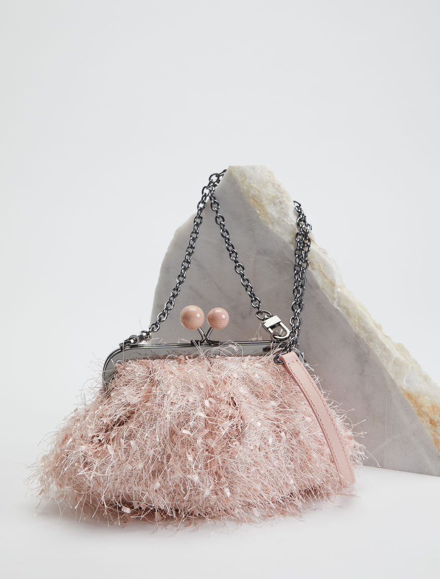 Mini Pasticcino Bag with feathers Weekend Maxmara