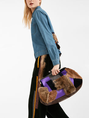 Pasticcino Bag Maxi in pelle e pelliccia Weekend Maxmara