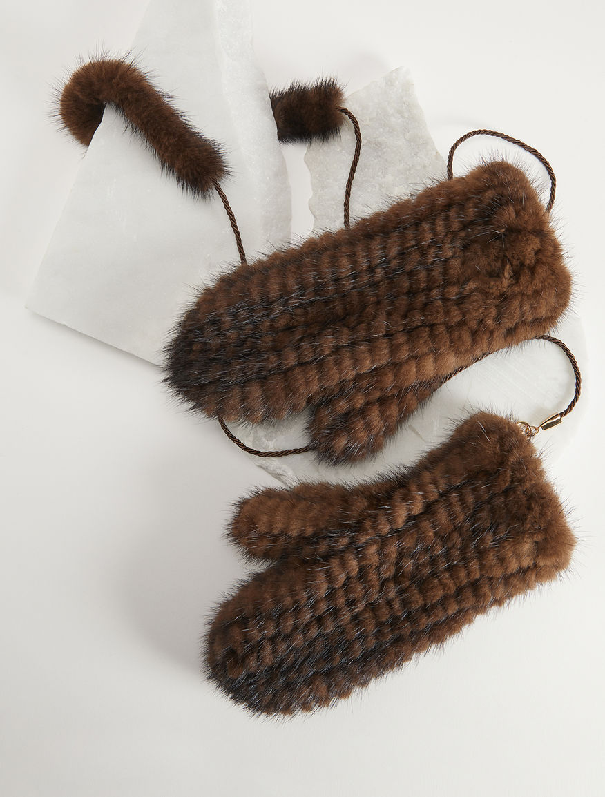 Mink gloves Weekend Maxmara