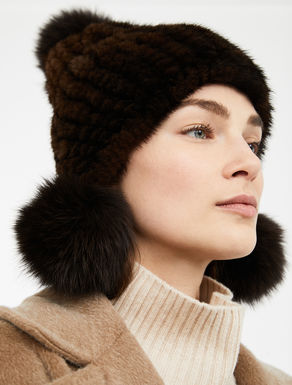 Cappello in visone e volpe Weekend Maxmara