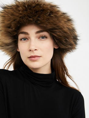 Cuffia in lana e pelliccia Weekend Maxmara