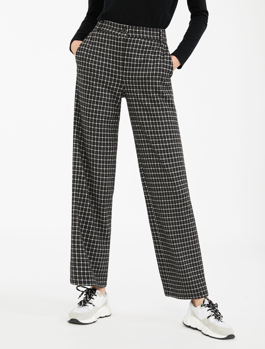 Pantaloni in flanella jacquard Weekend Maxmara